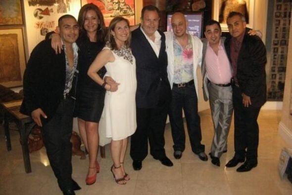Tuvieron la oportunidad de convivir con varias celebridades de la m&uacu...