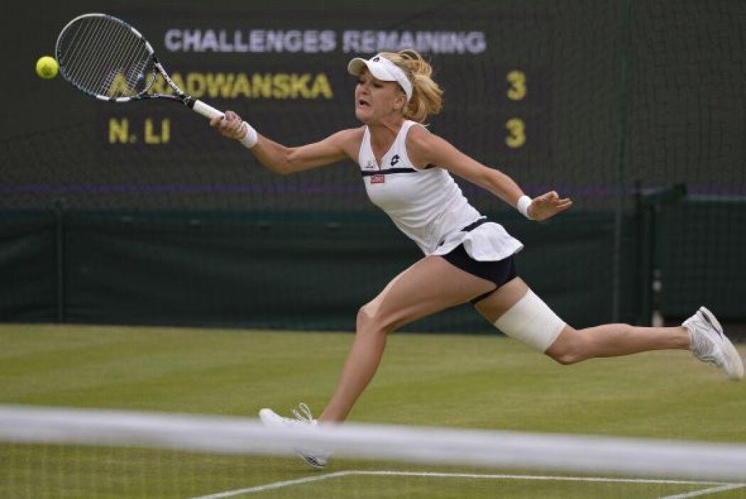 Radwanska sufría cuando su rival le enviaba tiros planos y potentes.