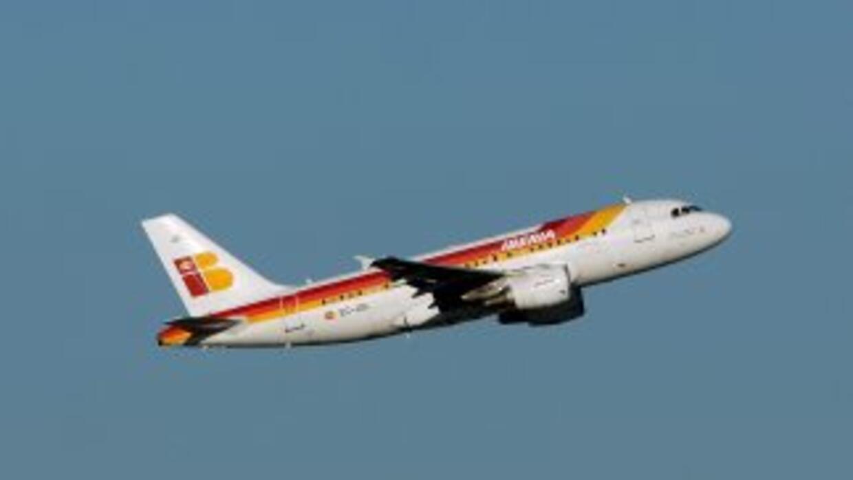 Una aeronave de la línea española Iberia.