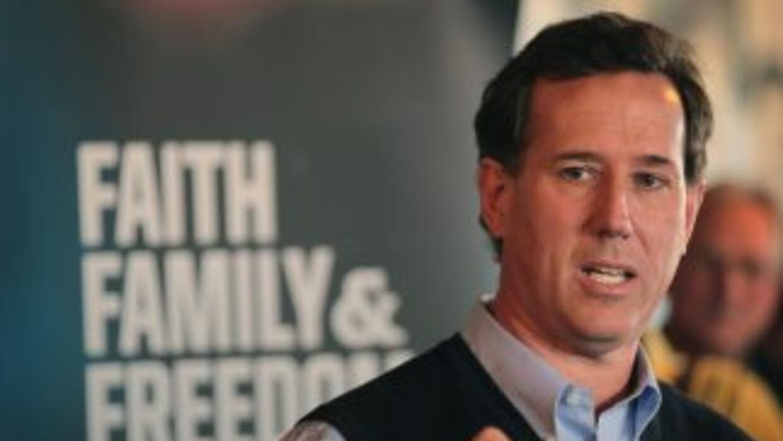El candidato republicano Rick Santorum durante las primarias de 2012.