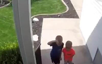 En video, el buen gesto de unos niños que devolvieron una moneda de 25 c...