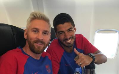 El Barcelona viajó a Inglaterra con Messi