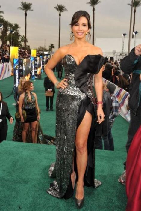 En la entrega de los Latin GRAMMY 2011, la bella conductora de Nuestra B...