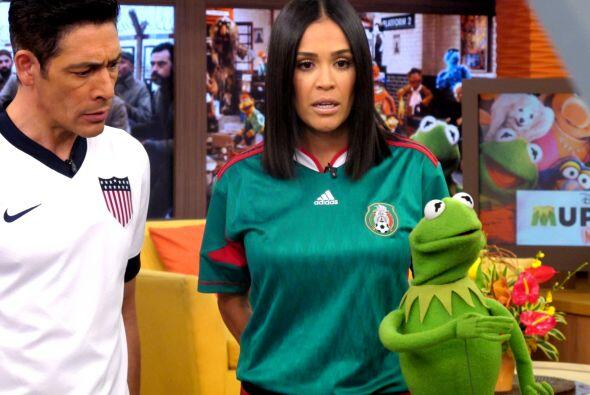 Kermit es muy ocurrente y prometió volver a nuestra casa.