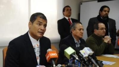 El presidente de Ecuador, Rafael Corea dijo que el narcotráfico domina t...