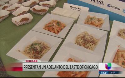 Presentan adelanto del Taste of Chicago