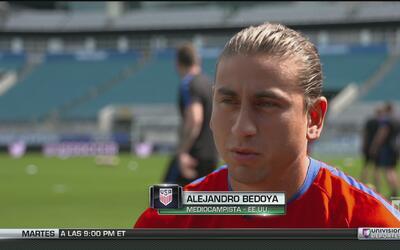 """Alejandro Bedoya: """"Nosotros no estamos mirando la tabla, hay que ganar"""""""
