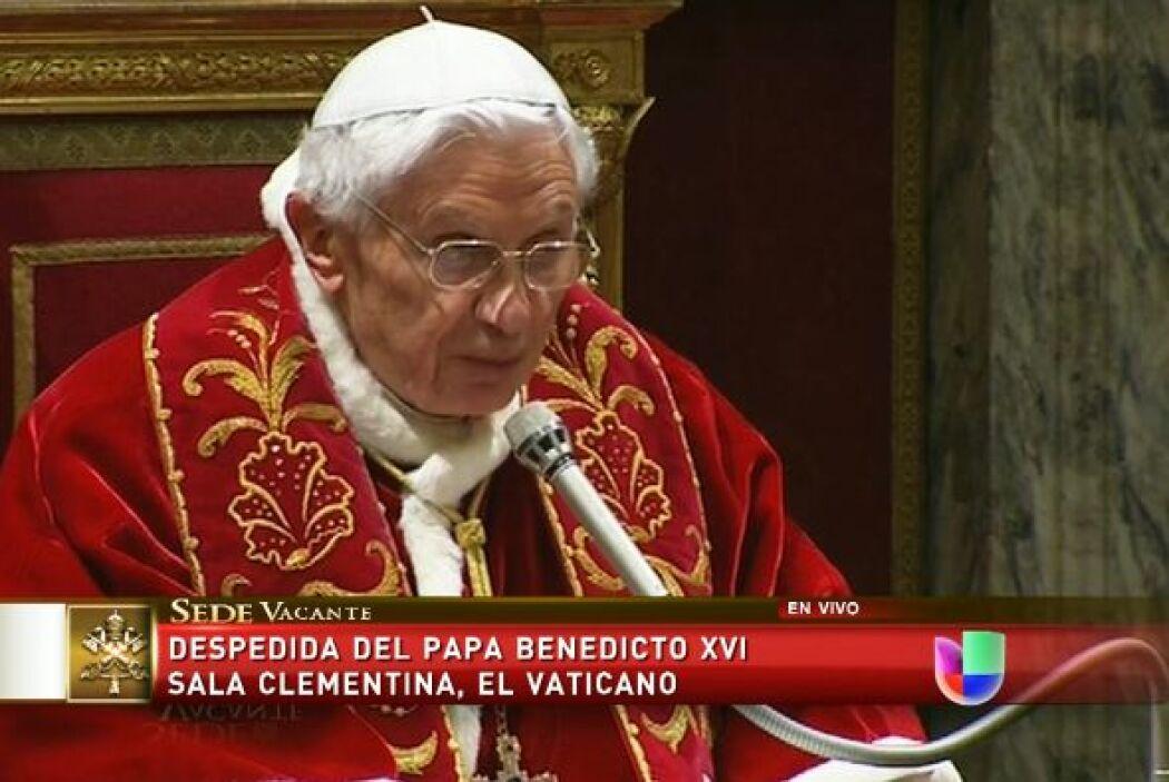 """Al respecto, Joseph Ratzinger """" que después de hacer oficial su dimisión..."""