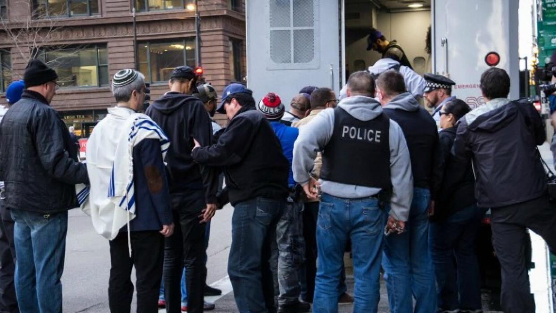 Arrestan a ocho personas en rally contra la administración Trump...