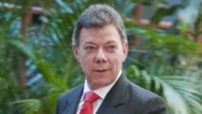 El presidente de Colombia, Juan Manuel Santos, goza de la mayor simpatía...