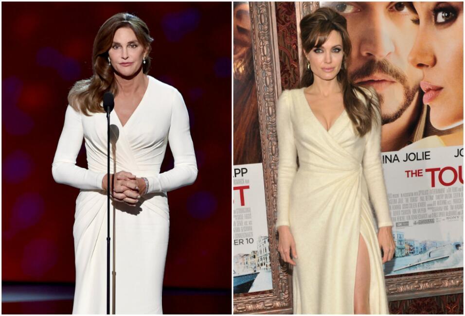 Angy y Caitlyn con el mismo vestido Versace