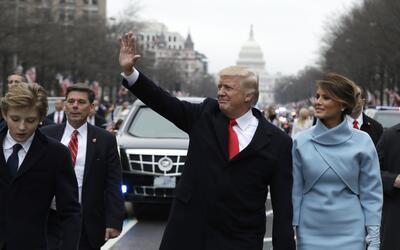 Donald Trump caminó un trecho de camino hasta la Casa Blanca acom...