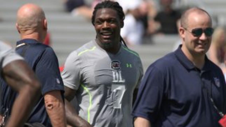 Jadeveon Clowney quiere ser el primer seleccionado del Draft (AP-NFL).