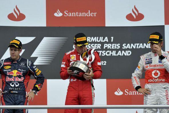 Fernando Alonso, Sebastian Vettel y Jenson Button subieron al podio en H...