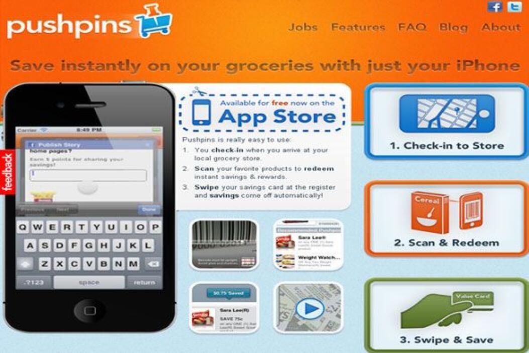 PUSHPINS - Te permite escanear tus artículos comestibles en más de 2,000...