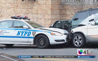 Buscan a sospechoso que robó una patrulla y la estrelló en una calle de...
