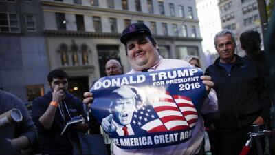 Un seguidor de Donald Trump en Nueva York