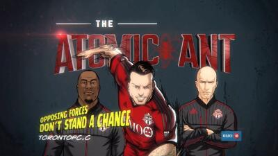 El Toronto FC creño una caricatura del italiano.