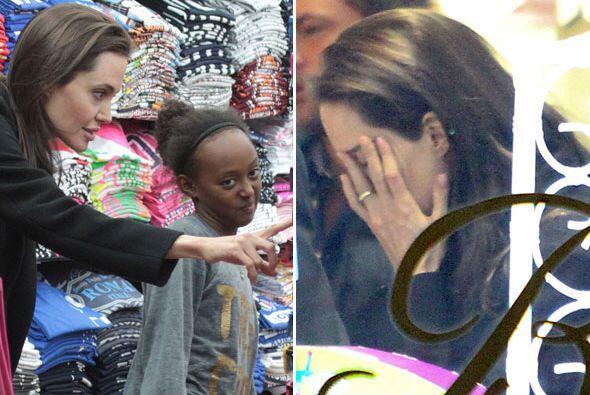 Angelina está de viaje por Italia.