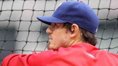 El mexicano Jorge Cantú fue campeón de la Liga Americana con los Rangers...