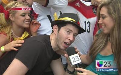 Alemanes y argentinos celebran por igual el resultado de la Copa
