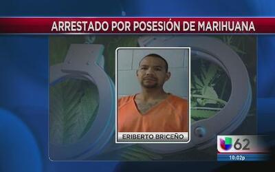 Detienen a expolicía con más de 100 libras de marihuana