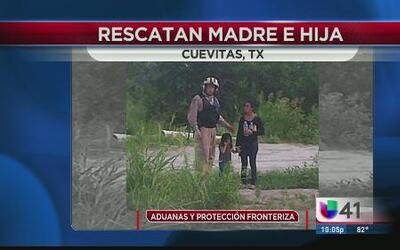 Una joven y su hija son rescatadas en la frontera