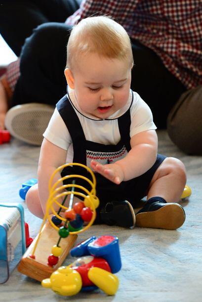 Gritó, hizo pucheros, lanzó juguetes y socializó con los otros bebés sin...