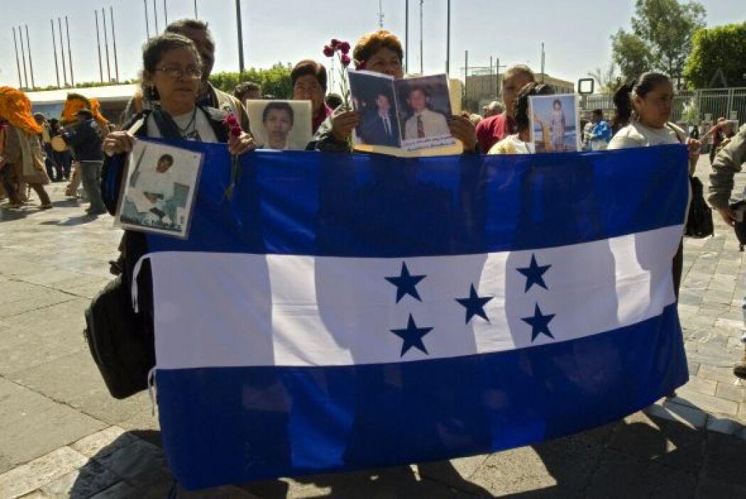 La caravana de familiares de migrantes hondureños desaparecidos en Méxic...