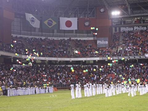 Zico, ex jugador de la selección de Brasil, organizó un pa...