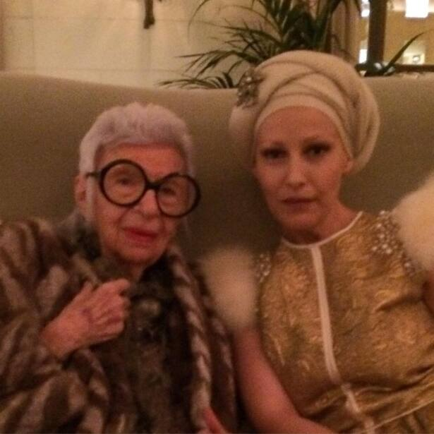 Con Iris Apfel en la Casa Blanca