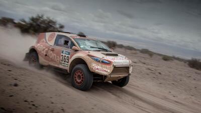 El auto 100% eléctrico se queda a las puertas de acabar el Dakar auto%20...