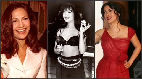 Jennifer López como lucía cuando filmó 'Selena'; en...
