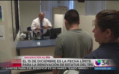 El 15 de diciembre límite para renovación del TPS