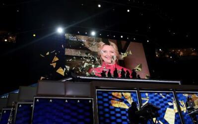 """Hillary Clinton hace """"una grieta más en el techo de cristal"""" que la sepa..."""