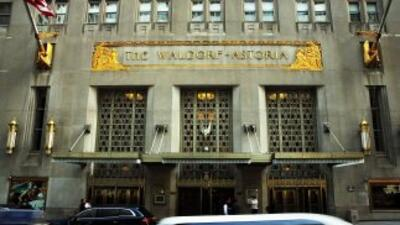 El exclusivo hotel Waldorf Astoria en Nueva York.