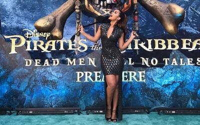 Clarissa Molina, como una estrella en la alfombra de 'Piratas del Caribe'