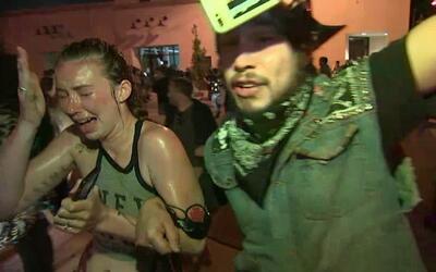 Policía lanza gas lacrimógeno a manifestantes contra Trump en Nuevo México