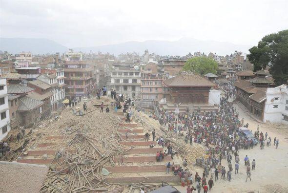 Vista aérea de la plaza Durbar.