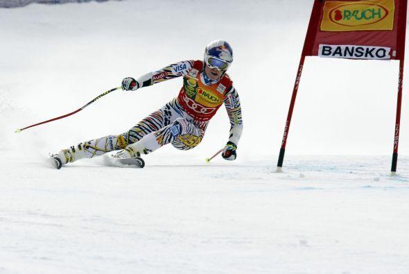 La estadounidense Lindsey Vonn ganó el supergigante de Bansko, perteneci...
