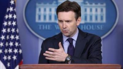 Josh Earnest, vocero de la Casa Blanca.