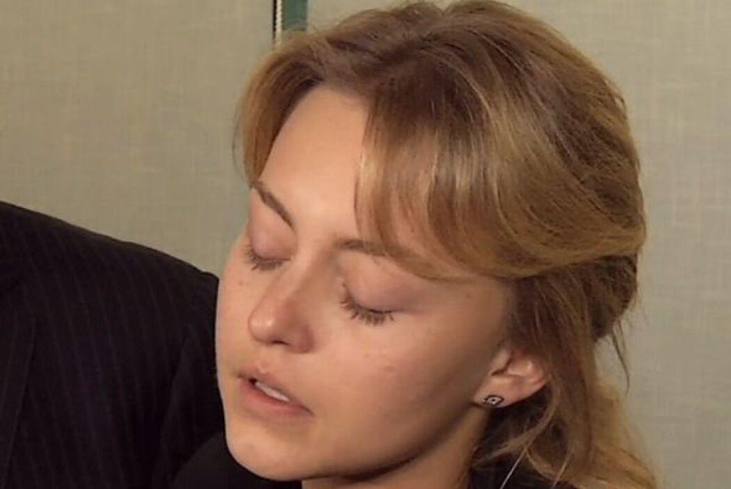 """La actriz lució desconsolada. """"Hoy se me fue el amor de mi vida y es alg..."""