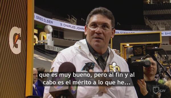 Ron Rivera busca hacer historia en el Super Bowl 50