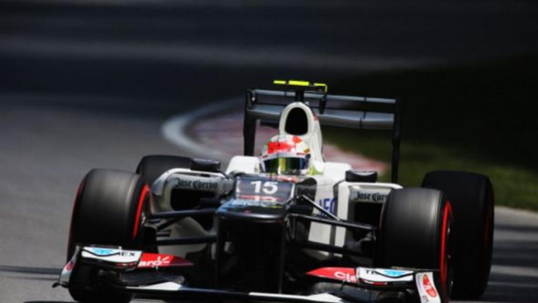 Pérez obtuvo el segundo podio de su carrera al obtener el tercer lugar e...