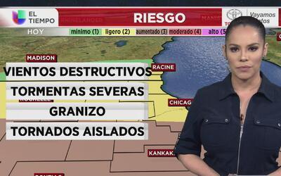 La zona metropolitana de Chicago está bajo vigilancia de tornado