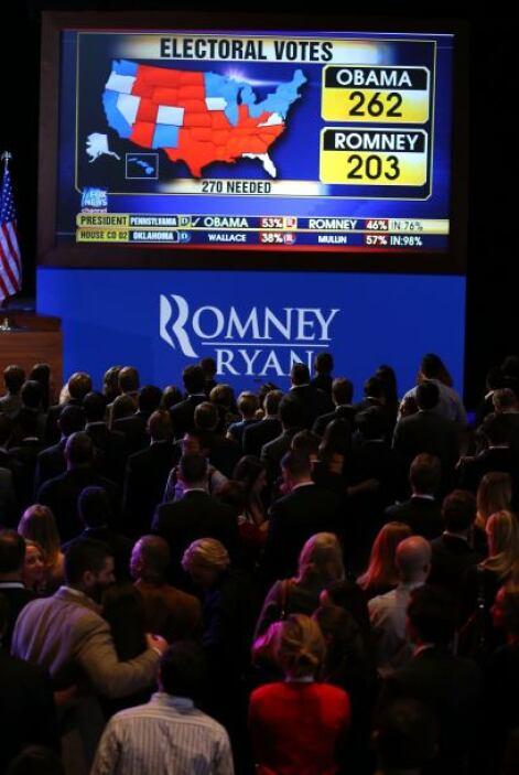 El candidato republicano tenía preparado un largo discurso de victoria y...
