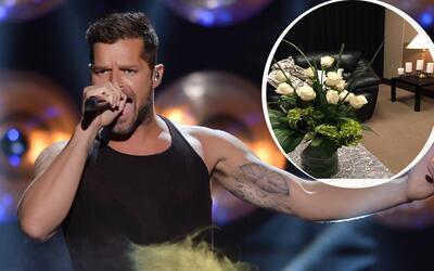 ¡Ricky Martin tiene el camerino más grande!