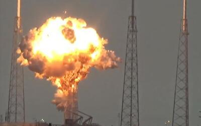 Así fue la explosión en el complejo SpaceX de Cabo Cañaveral