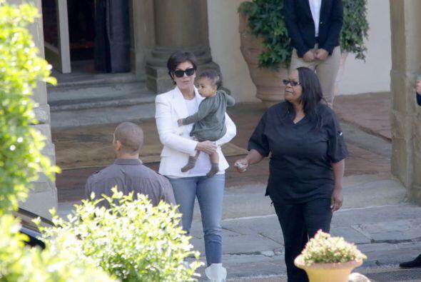 Toda la familia Kardashian viajó a Florencia para la boda.