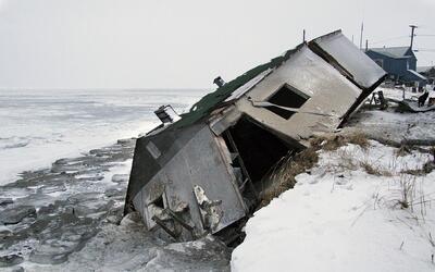 La subida del nivel del mar ya afectó a 13 viviendas.